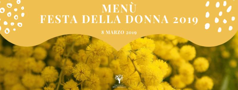 menu vegano festa della donna 2019
